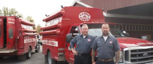G.A. Bove Fuels - staff with service trucks